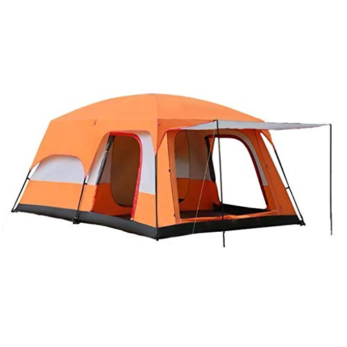 Tent Large Outdoor, 4~6 People/8~12 People The Outdoor Camping Barbecue Group Builds, 210T Waterproof Sunscreen Large Space Can Be Split Into, Multi-person Portable Storage
