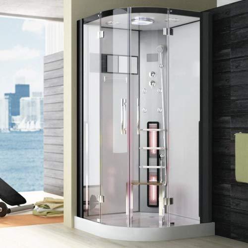 Infrarot Dampfdusche GOCTA Dampfdusche Sauna Dusche Infrarot 3,02 kW