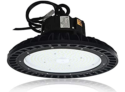480vac Version -Dimmable 34,000 Lumen Corvus Series LED High Bay Light -240 watt LED High Bay Lighting UFO LED Light - 480vac - 34,800 Lumens - 240 Watt Led High Bay Light - Dimmable - 5000K - Corvus