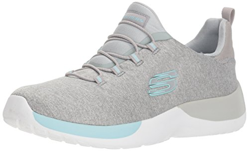 Skechers 12991/LGAQ Dynamight-Break-Through Damen Sneaker grau/türkis, Größe:38, Farbe:Grau