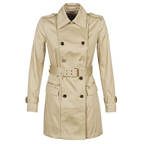 Guess Christina Trench Mäntel Damen Beige - L - Trenchcoats Outerwear