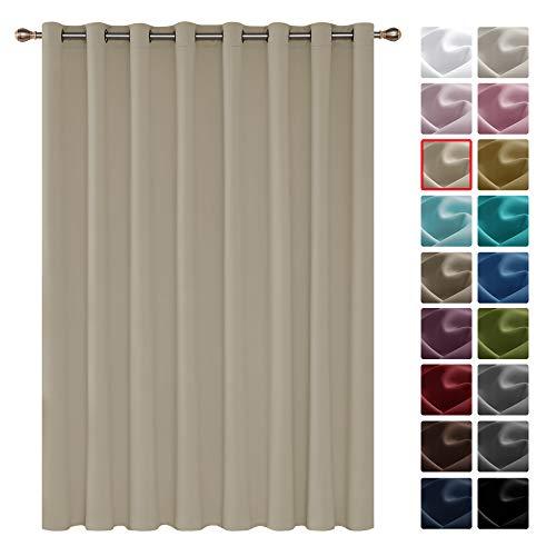 Deconovo Tenda Oscurante Termica Isolante con Occhielli per Porta Finestre Moderne 254x242cm Beige Un Pannello