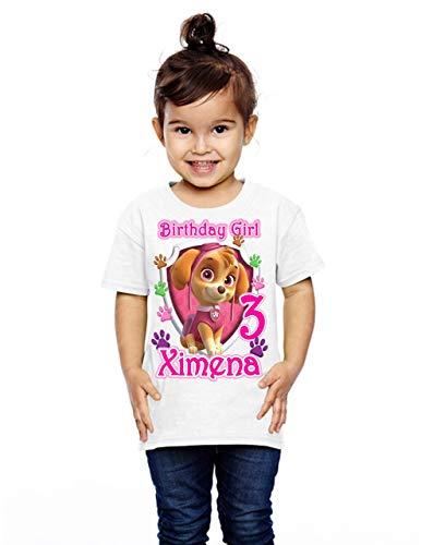 Girl Paw Patrol Birthday Shirt, Add Any Name and Age, Custom Paw Patrol Birthday Shirt, Skye Shirt
