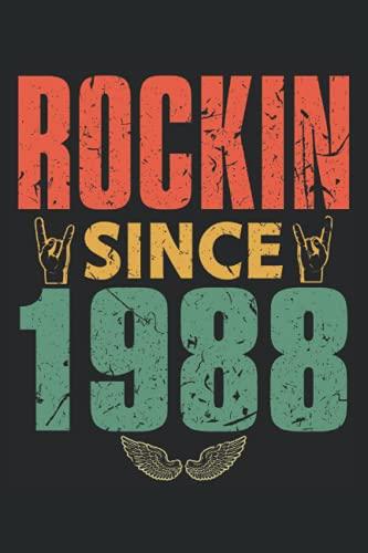 Terminplaner 2022: Terminkalender fuer 2022 mit Rock Musik Fan geboren 1988 Cover | Wochenplaner | elegantes Softcover | A5 | To