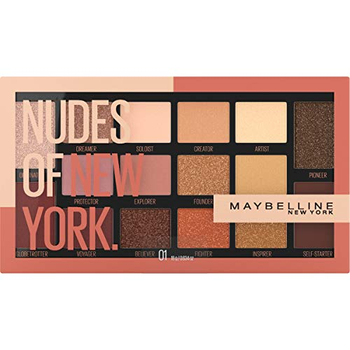 Maybelline New York Nudes 6 Pan Eyeshadow Palette Custom Designed Of Diverse Skin Tones, 0.634 Oz 0 01 THE NUDES OF NEW YORK