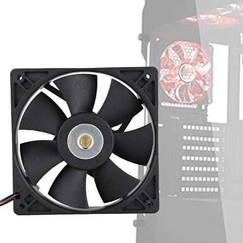 Hopcd Ventilador de enfriamiento DC 12V 0.8A 3000RPM 12CM 4Pin Ventilador de enfriamiento Industrial 3000RPM 110CFM Sever Cooler Case Fan