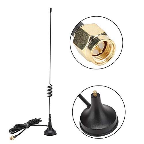 Oumij Antena Vehículo Vertical gsm Antena de Bombeo para Exteriores 2G / 3G / 4G GPRS 2.4G / 433MHz 12dBi Antena de Alta Ganancia de 3 m de Longitud