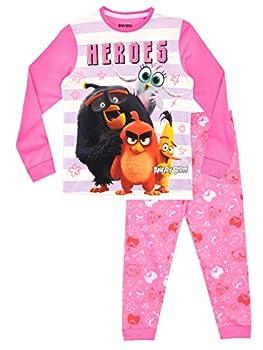 Angry Birds Girls Pajamas Pink Size 7