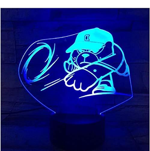 Anime USD LED Night Light Team Niños Dormitorio Nightlight Color Cambiando la lámpara de mesa Figura Niño Regalo de Navidad Lámpara 3D