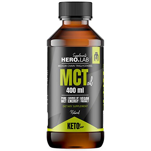 Hero.Lab MCT Oil 1 x 400ml - Ketogenic Diet - Low Carb - Pure Energy Source - Keto Line