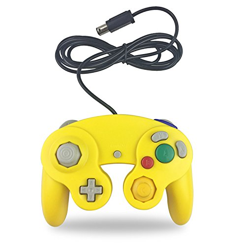 Crifeir la manette filaire pour Gamecube NGC Wii Jeu vidéo jaune