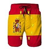 fgdhfgjhdgf 154 Shorts de Playa Divertidos para Hombres Pantalones Casuales Bandera Nacional de españa con una Estrella Ci XXL