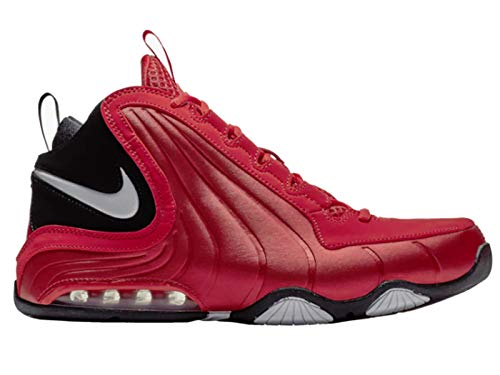 Nike Mens Air Max Wavy University Red/White/Black Leather Basketball Shoes 10 M US