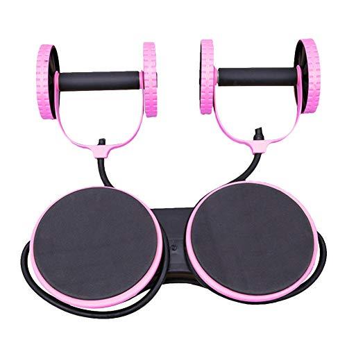 Persiverney Multifunktions-Bauchrad 3 in 1 Bauchmuskel-Heimfitnessgerät Körperfitness-Krafttrainingsgerät AB Roller Gym Fitness