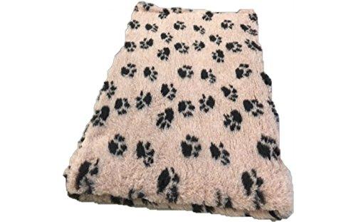 Vetbed -/ Drybed I Marron clair avec pattes noires I 75 x 100 cm