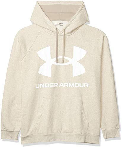 Under Armour Rival Fleece Big Logo HD, sweatshirt Homme, Blanc (Onyx White / Black), S