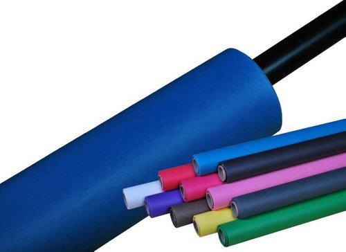 moderntex Papierhintergrund blau/bluescreen 180g/m² Made in USA, 11m x 2,72m, faltenfreier Hintergrundkarton