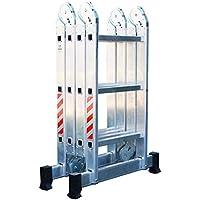 Escalera Andamio Plataforma Plegable de Aluminio Multifuncional 4x3. Escada Multiuso em Alumínio (12 Peldaños / 12 Degraus). Hecho/Fabricado en Europa
