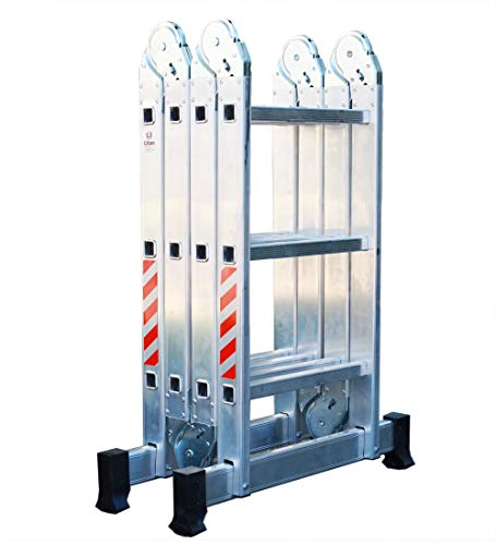 Escalera Andamio Plataforma Plegable de Aluminio Multifuncional 4x3. Escada Multiuso em Alumínio...