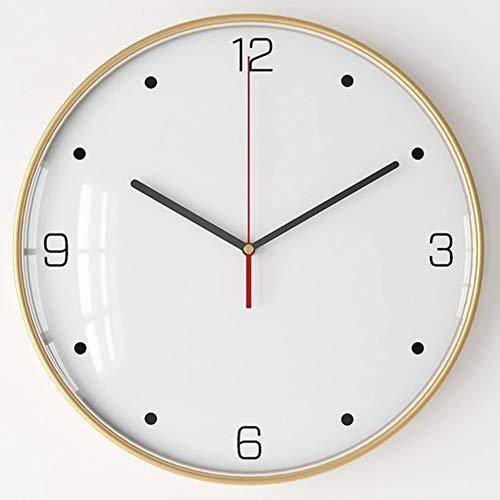 PYapron Moderne Mute Wanduhr, 3D Metall Uhren Home Office Dekorationen, Wanduhr Stille Nicht Ticken Arabische Ziffer Uhr Runde Dekorative Wanduhr Für Wohnzimmer, 30,5X3,5 cm,I