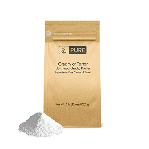Pure Cream of Tartar (2 lb.), Eco-Friendly Packaging, All-Natural, Non-GMO, for Baking, Cleaning, DIY Bathbombs, More