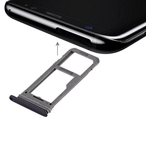 wortek Sim + Micro SD Karten Halter Schwarz für Samsung Galaxy S8 Dual Adapter Tray Slot