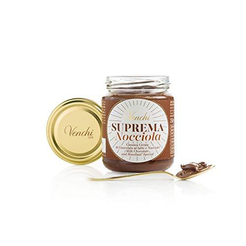 Venchi Crema Spalmabile al Cioccolato Suprema Nocciola - con Nocciole Piemonte IGP - Senza Glutine, Grassi Idrogenati, Olio di Palma o Conservanti - 250 g