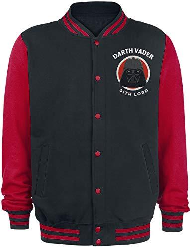 Star Wars Darth Vader - Sith Lord Hombre Chaqueta Universitaria negro/rojo M, 100% algodón,