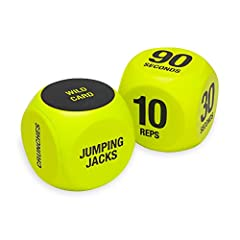EXERCISE DICE: Six-sided fitness dice with workouts on one and rep counts printed on the other IDEAL FOR GROUP TRAINING & FITNESS CLASSES: Roll the dice for a fun and exciting way to get fit with friends TEST YOUR LUCK: You must perform the exercise ...