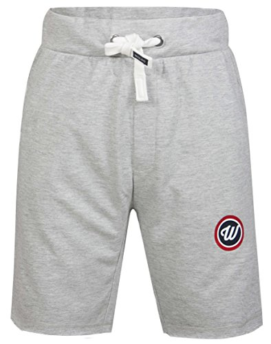 Woldo Athletic Herren Sweatshorts Sport Fitness Freizeit Shorts Trainingshose Kurze Hose Slim Fit (M Evans/grau)