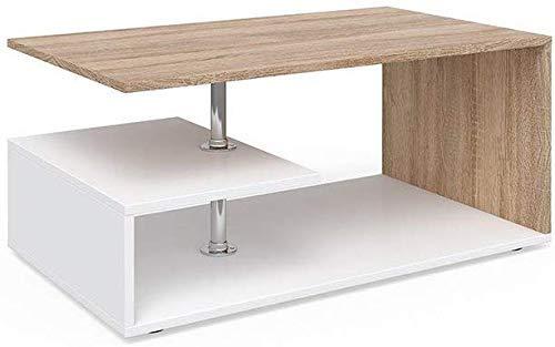 Vicco Tavolino da Divano Guillermo Tavolino da Salotto Bianco Sonoma 91x52