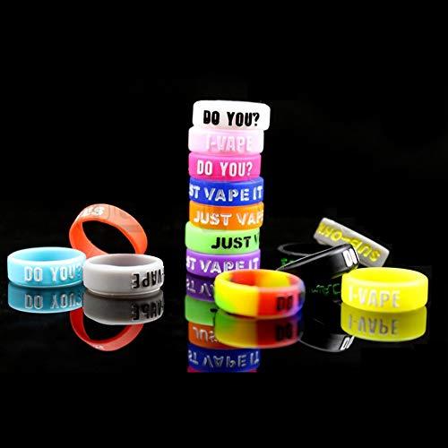 30 PCS Vape Rings Elektronische Zigarette zubehör Silikon Anti Slip Ring Bump für RBA RDA RTA Tank Mechanische Mods Zufällige Farbe (30 Stück Random Mix Colour) (30 Stück Mix)