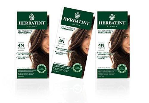 Herbatint Haarfarbe Gel 4N Kastanienbraun 3x150 ml