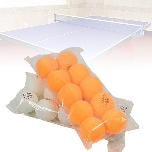 Fancyland palla per tennis da tavolo, 10pezzi, professionale, pallina da tennis da tavolo, 40mm di diametro, peso 2,9g, 3stelle, palline da ping-pong per la formazione a bassa competizione, giallo