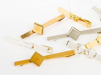 Krawattenhalter Mix 50mm (Gold/Argent), 30 Pièces
