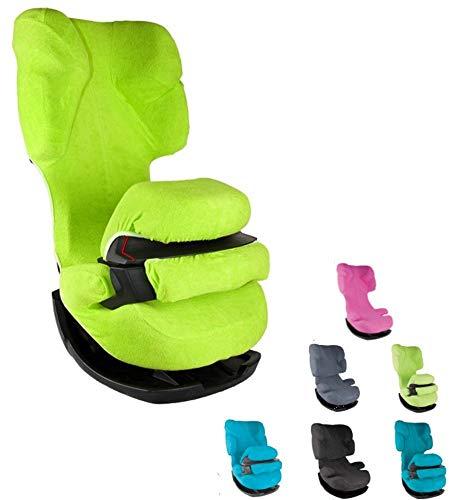 YoungSmile ** LINDGRÜN ** Schonbezug 4 JahresZeiten DELUXE ** Kuscheliger Universal ErsatzBezug für Cybex PALLAS Kindersitz / Autositz Gruppe 1/2/3 (9-36 kg)