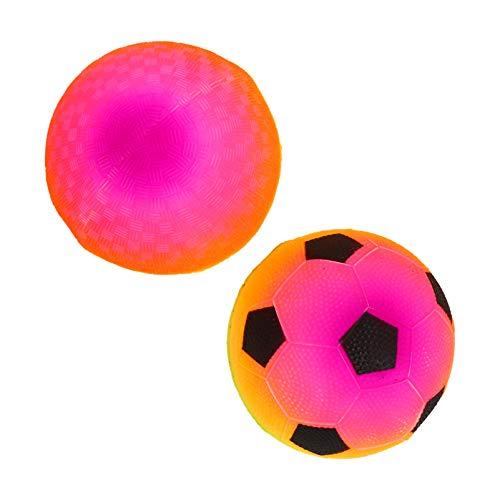 BESPORTBLE Regenbogen Ball Ball Licht Und Spaß Portable Fußball Schläger Ball Spielzeug für Outdoor Sport Kinder Fußball Spielzeug 2Pcs