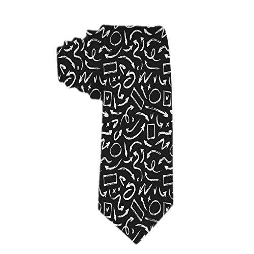 Mens Classic Grunge Slim Tie, dünne gewebte dünne Krawatten, umweltfreundliche Fashion Boys Krawatten
