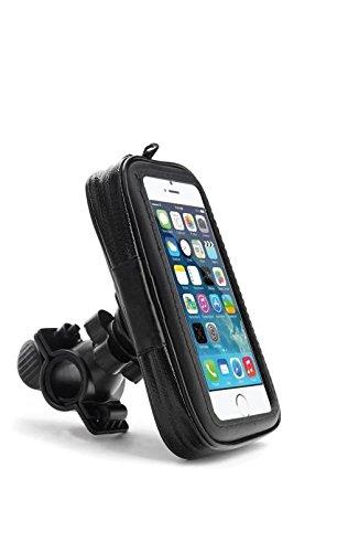 Wasserfeste Fahrradhalterung Bike Fahrrad MTB & Motorrad Halter mit Tasche für Smartphone / Handy (Kazam Tornado 348)