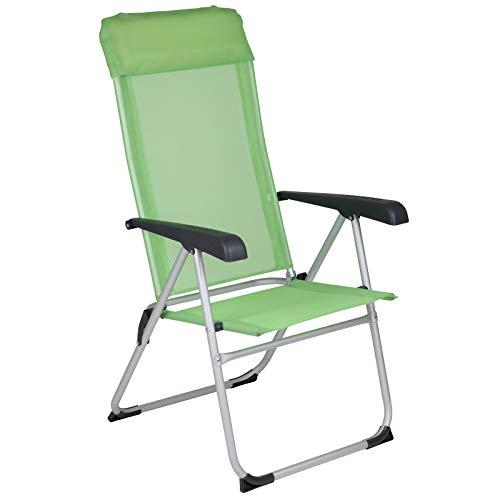 Klappstuhl Nice 8 Positionen verstellbar in grün • Campingstuhl Faltstuhl Gartenstuhl Stuhl Klappsessel Outdoor Camping