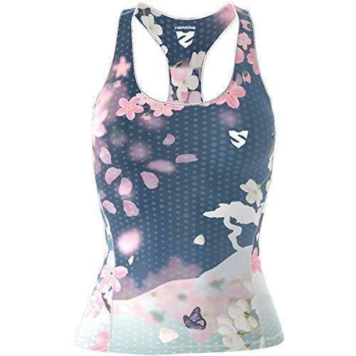 SMMASH Blossom Sport Top Tank Para Mujer, Camiseta de Tirantes Deportivas, Camiseta sin Manga para Fitness, Yoga, Formación, Material Transpirable y Antibacteriano, Fabricada en la UE (S)