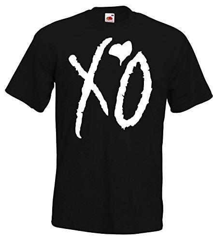 TRVPPY Herren T-Shirt Modell XO The Weeknd, Schwarz, M