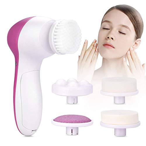 Adbeni 5 in 1 Face Facial Exfoliator Electric Massage Machine Care & Cleansing Cleanser Massager Kit For Smoothing Body Beauty Skin Cleaner facial massager machine for face