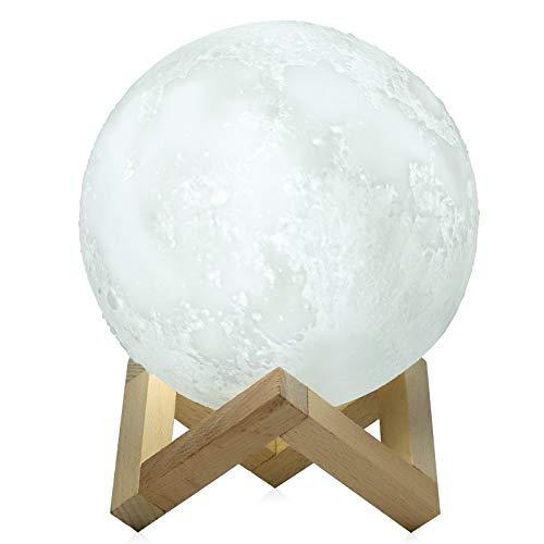 Lámpara de pie LED 3D, lámpara de noche, lámpara de mesita de noche, lámpara táctil regulable para salón