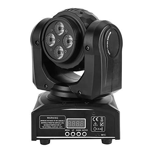 Moving Head DMX512 - Luz de escenario, 90 W, doble cara, LED, con termostato de ventilador y 4 modos de control para discotecas, discotecas, KTV, pub, escenario, bodas, enchufe UE de 220 V
