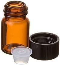 5/8 Dram AMBER Glass Vial - Screw Cap w/Orifice Reducer- Pack of 24