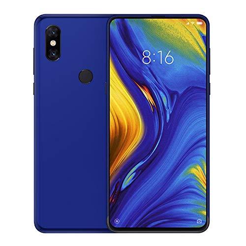 TBOC Funda de Gel TPU Azul para Xiaomi Mi Mix 3 [6.29 Pulgadas] Carcasa de Silicona Ultrafina y Flexible para Teléfono Móvil [No es Compatible con el Xiaomi Mi MAX 3]