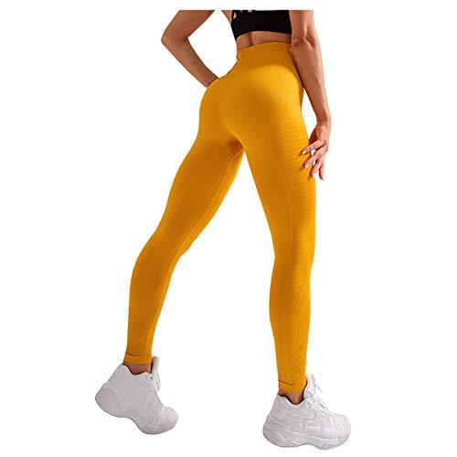 Pudyor Pantalones de Yoga para Mujer Pantalón Deportivos Transpirables Mallas Elásticos sin Costura Leggins Push up de Cintura Alta Pantalón de Yoga para Running Gym Fitness