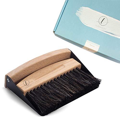 Lilienfeldt Premium - Escoba de mesa con recogedor (magnética, cepillo de mesa y pala, escoba de mano, escoba y escoba de madera)