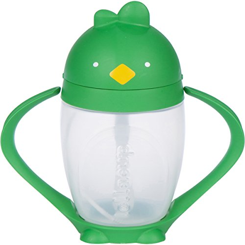 Lollaland Weighted Straw Sippy Cup for Baby: Lollacup - Transition Kids, Infant & Toddler Sippy Cup (6 months - 9 months) | Shark Tank Products | Lollacup (Good Green)